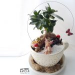 pot belly fig planter cup and saucer