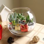 Christmas Theme Fish Bowl Succulent Terrarium